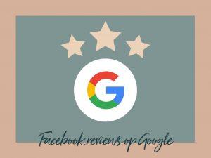 Facebook reviews in Google